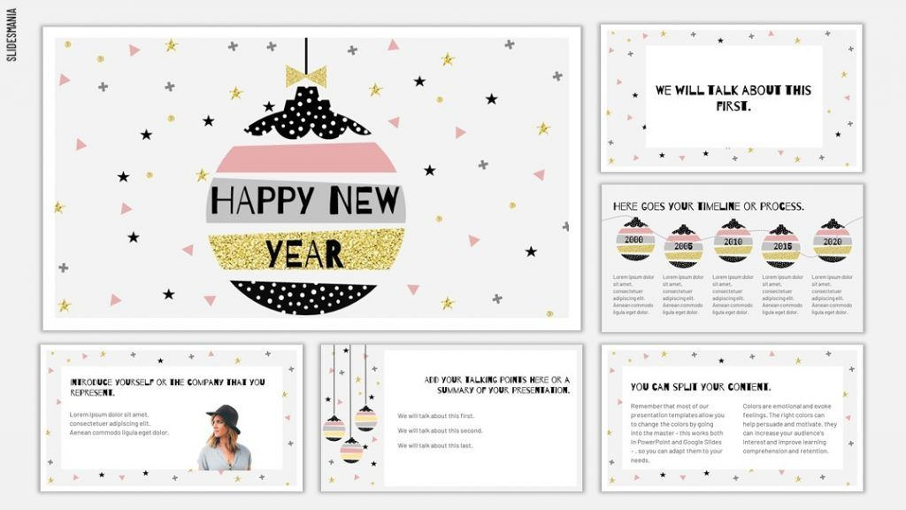 New Year 2019 2020 Template For Google Slides Or Powerpoint