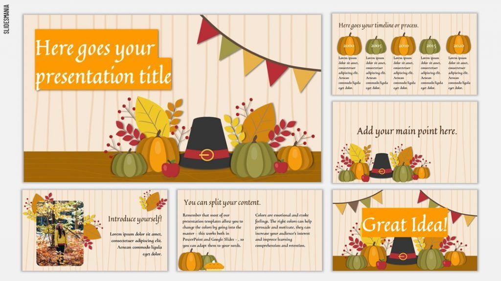 Thanksgiving 2019 Template For Google Slides Or Powerpoint