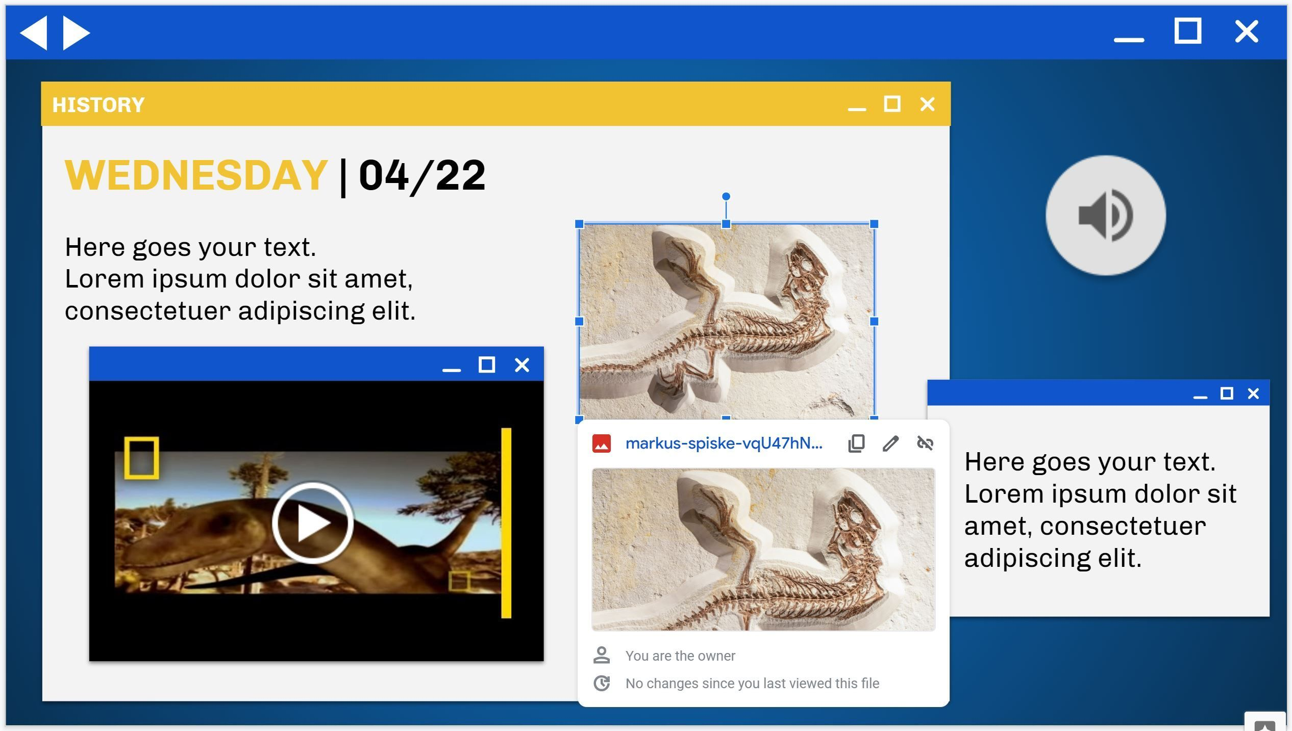 How to create a clickable thumbnail image in Google Slides