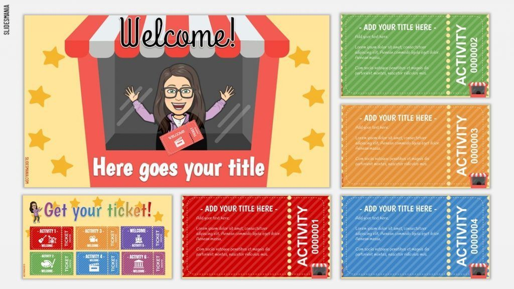 Cinema Choice Board Or Daily Activities Slides For Google Slides