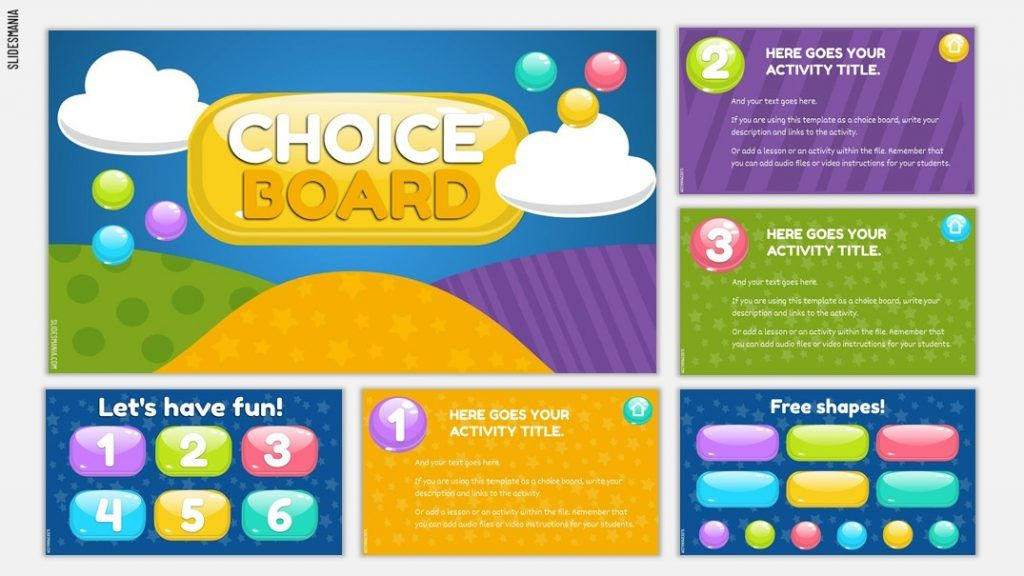 Gems Choice Board Template For Google Slides Or Powerpoint