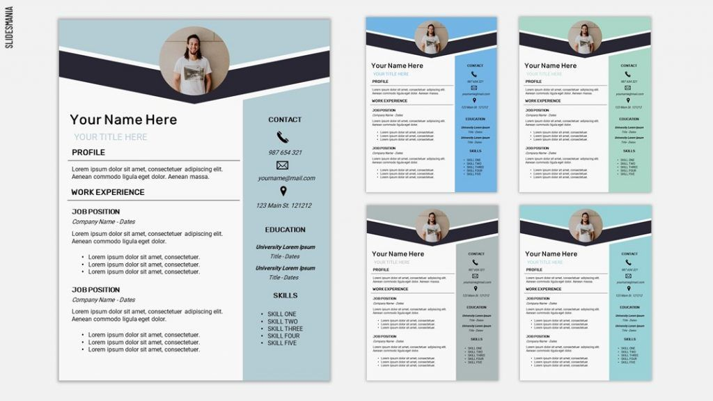 Resume Two Free Template For Google Slides Or Powerpoint Slidesmania