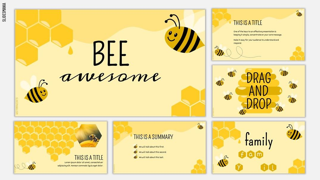 BEE awesome! For spelling and drag and drop activities. - Now it comes with scratch-off cards! | SlidesMania